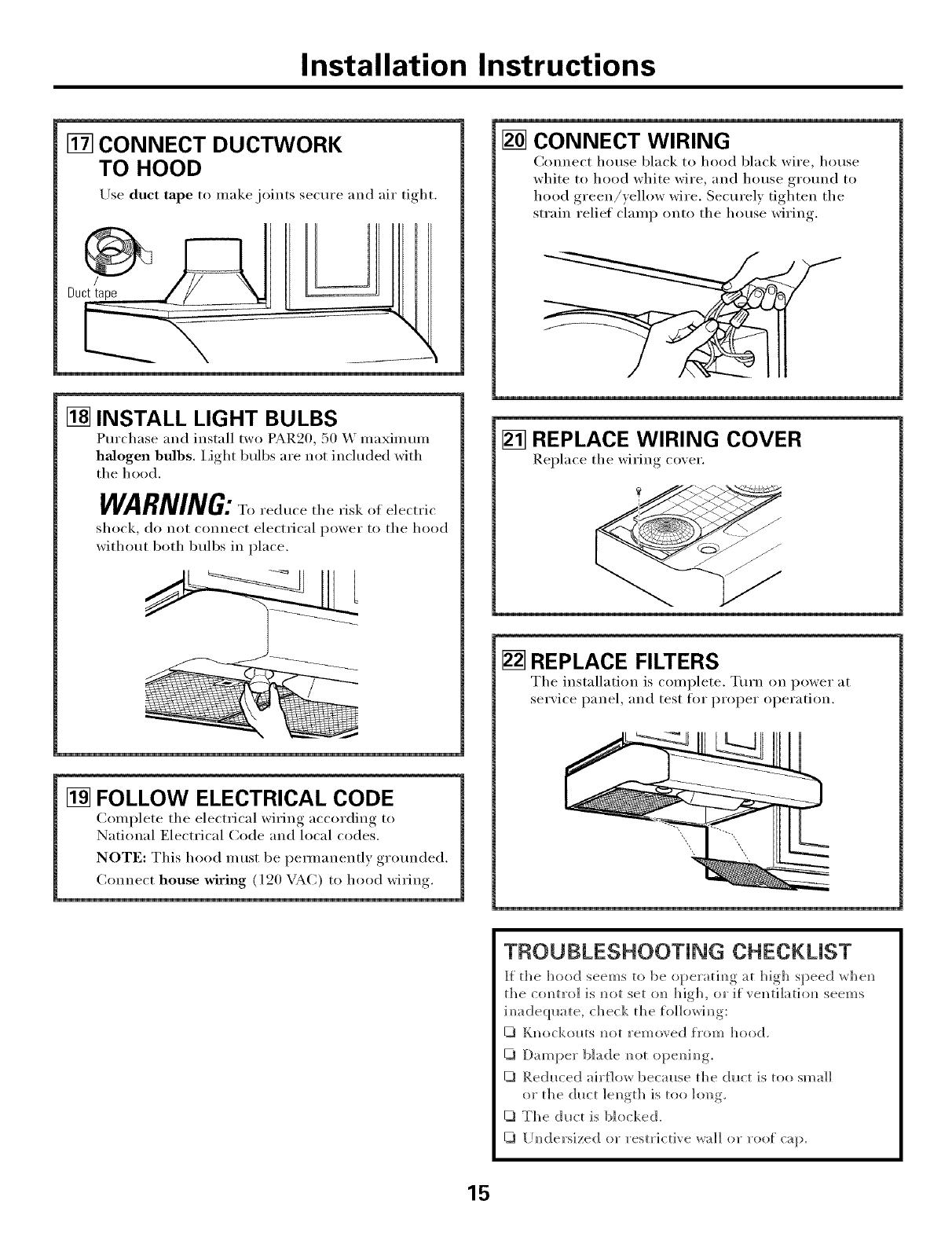 Ge Range Hood Manual L0406352 Wiring A House Codes