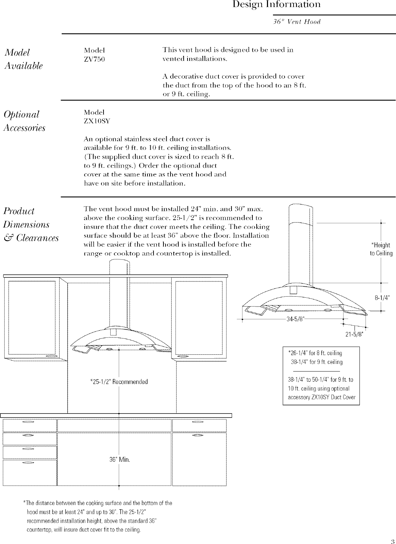GE Range Hood Manual L0502315