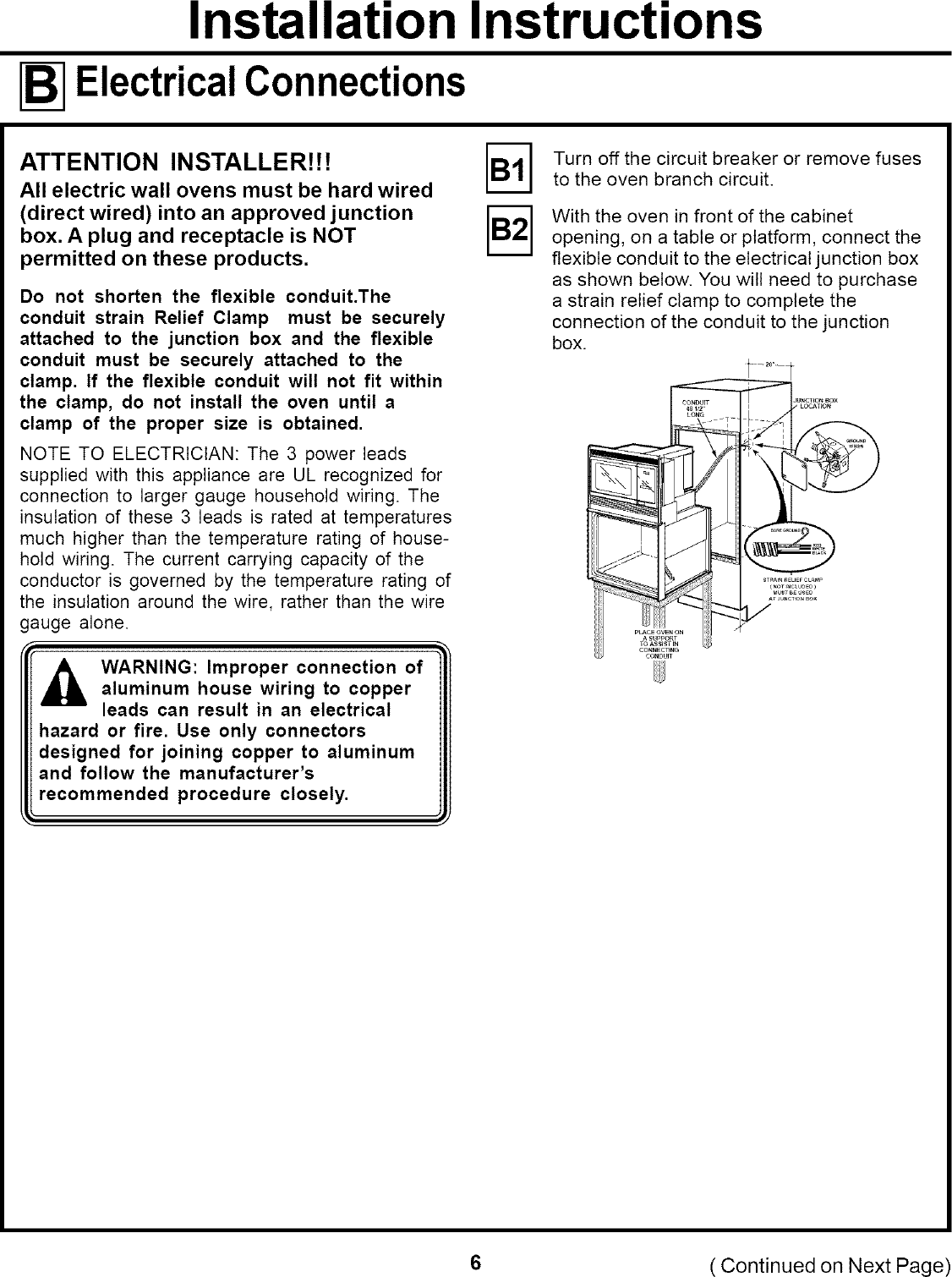 page 6 of 12 - ge built in oven, electric with microwave manual l0608178