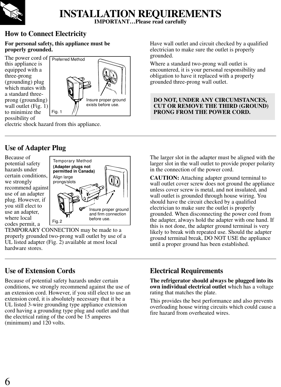 Ge Sc4 User Manual To The 4a228cca D1e7 46f4 Bbe8 F903c11f9bb4 Grounded Plug Wiring Page 6 Of 12