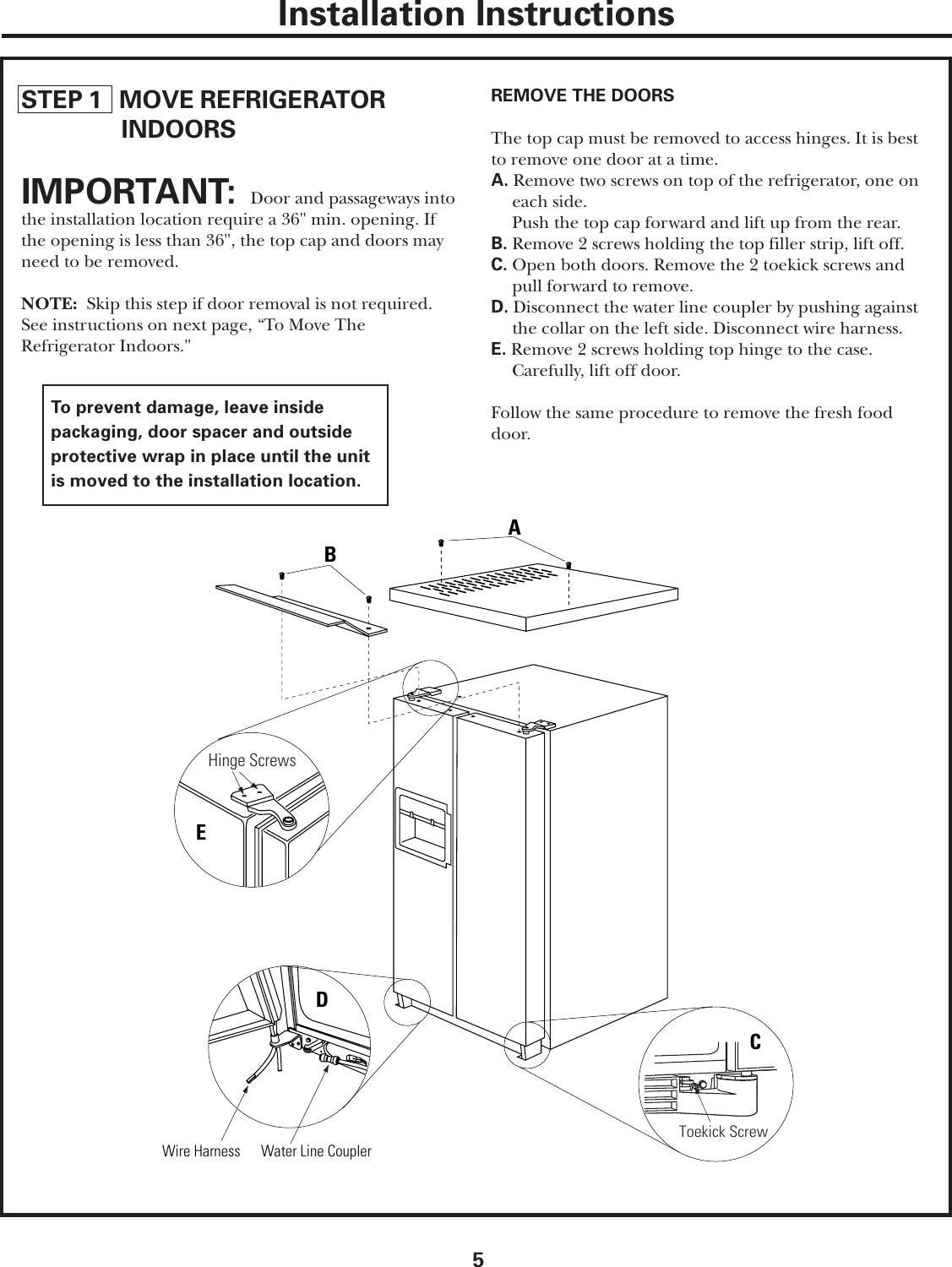 GE ZFSB23D SS ZFSB23DN Inst User Manual To The 0863d497 a748 4d31 ...