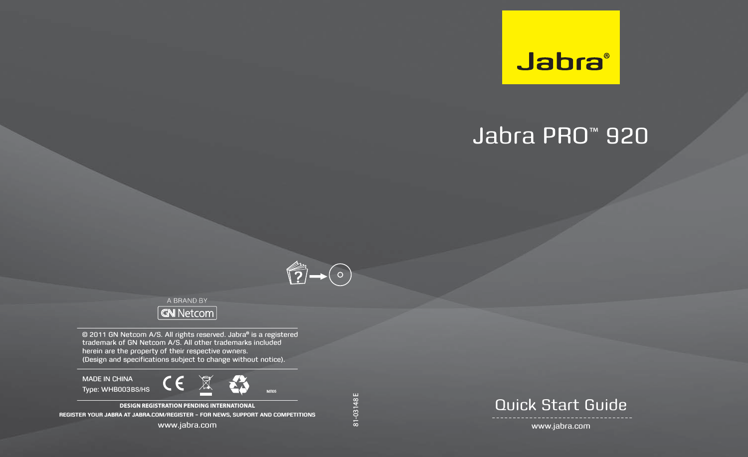 Gn Netcom Whb003hs Jabra Pro 9x0 Us Dect Headset User Manual 15 Wbh003bs Userman B1