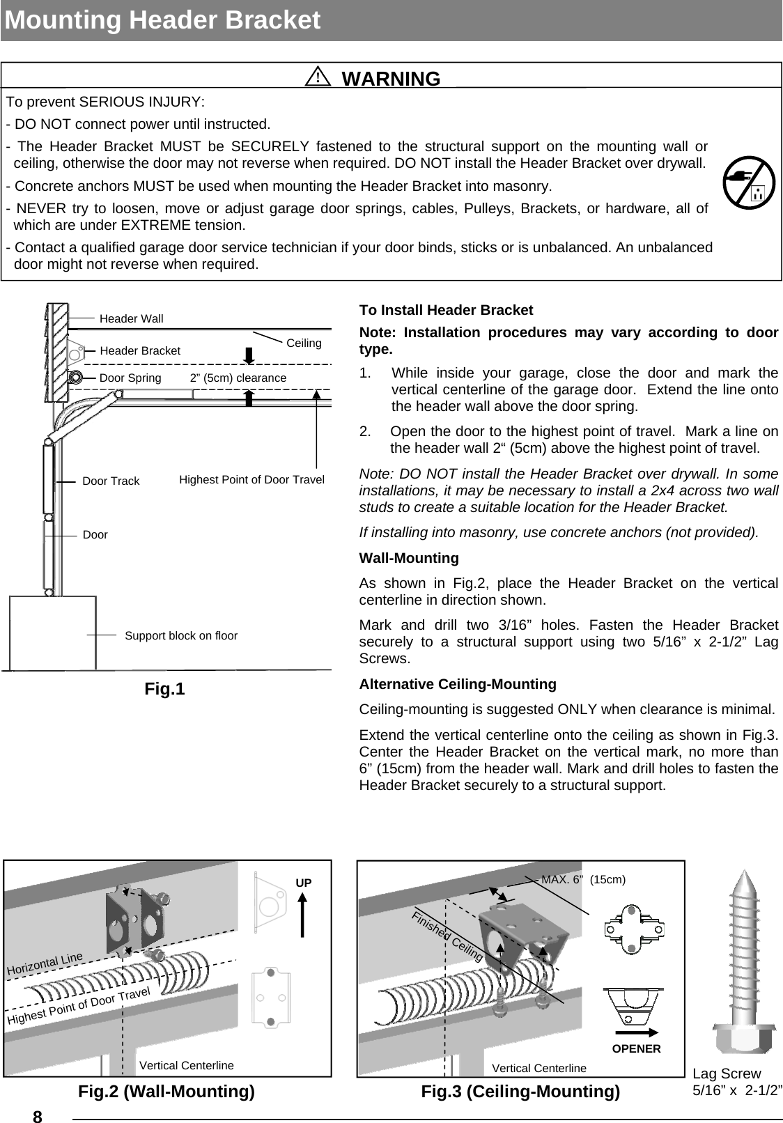 guardian dcrx01 cc garage door opener user manual l5112 t gu 615 150710 rh usermanual wiki Modular Construction Ceilings Metal Ceiling