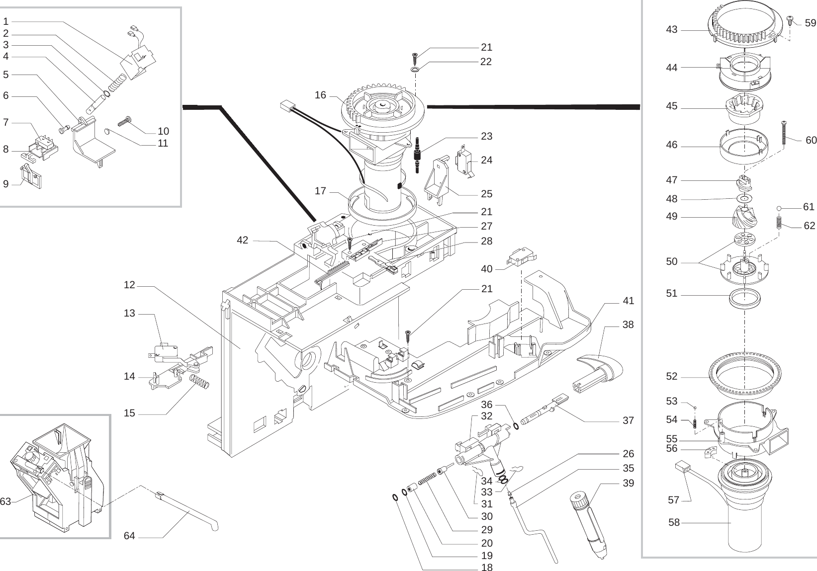 Gaggia Syncrony Logic Parts Diagram User Manual
