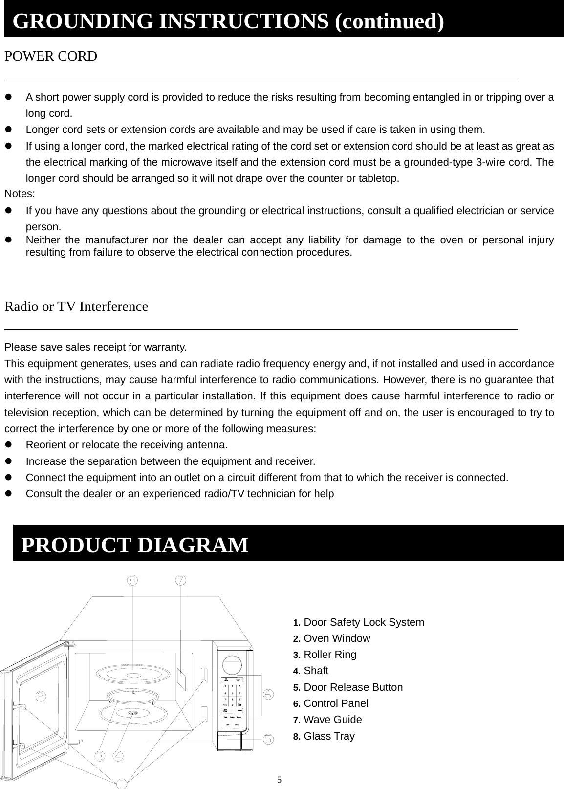 Galanz 11043001 Microwave Oven User Manual Ogyz1602b