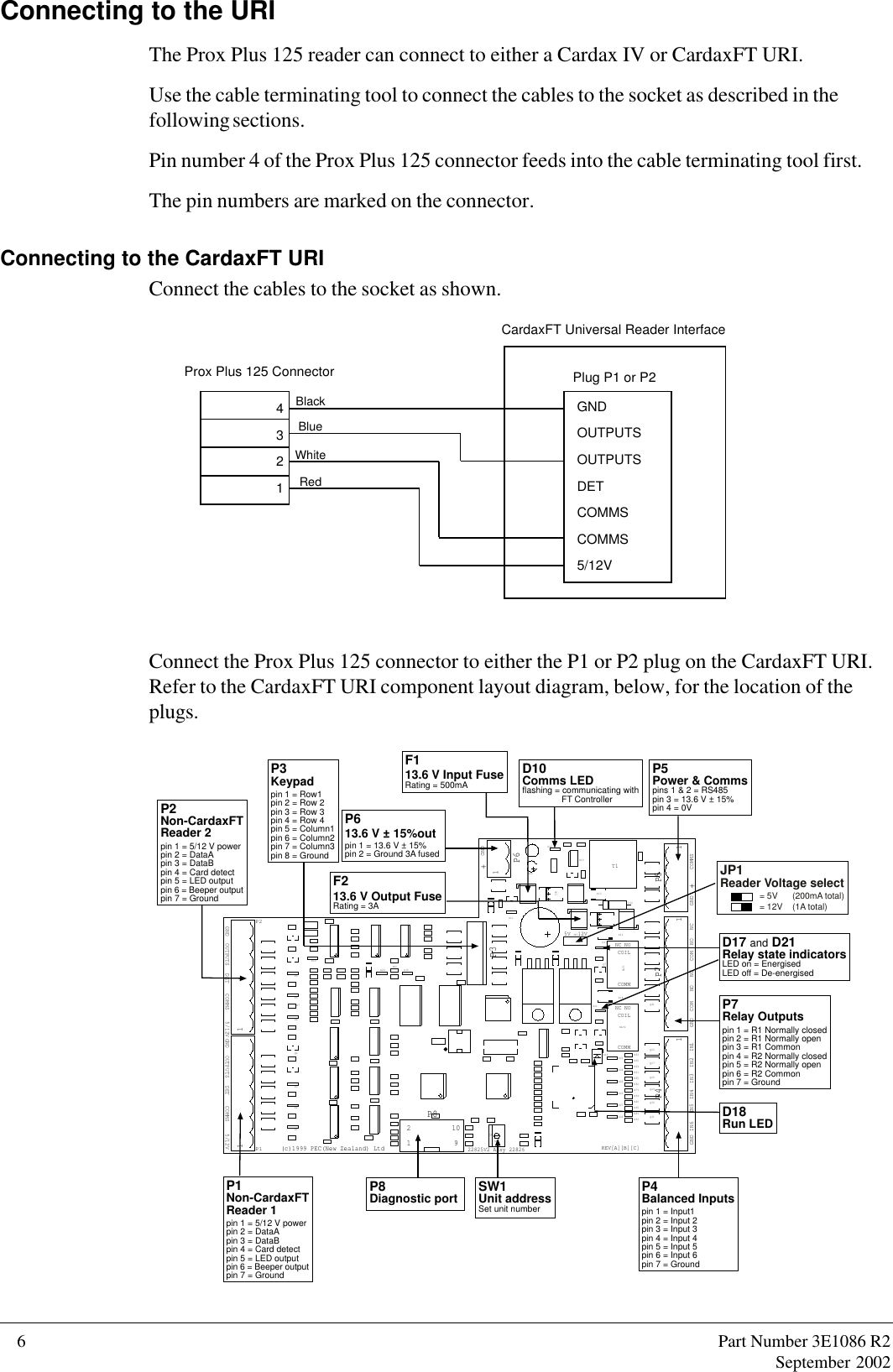 Gallagher Group 19087y Cardax Iv 125 Series Prox Plus Reader User 2 Wire Proximity Sensor Wiring Diagram 6 Part Number 3e1086 R2september 2002connecting To The Urithe Can Connect
