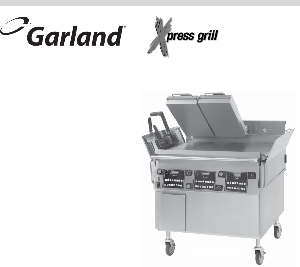 Garland XG362S L 4526884 Sonic Gas Xpress Grill Rev 4 User ... on