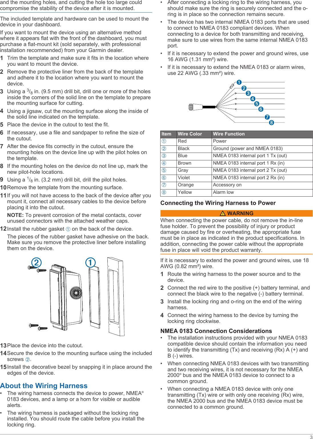 Garmin 102 M Gpsmap 527 Manual Installation Instructions
