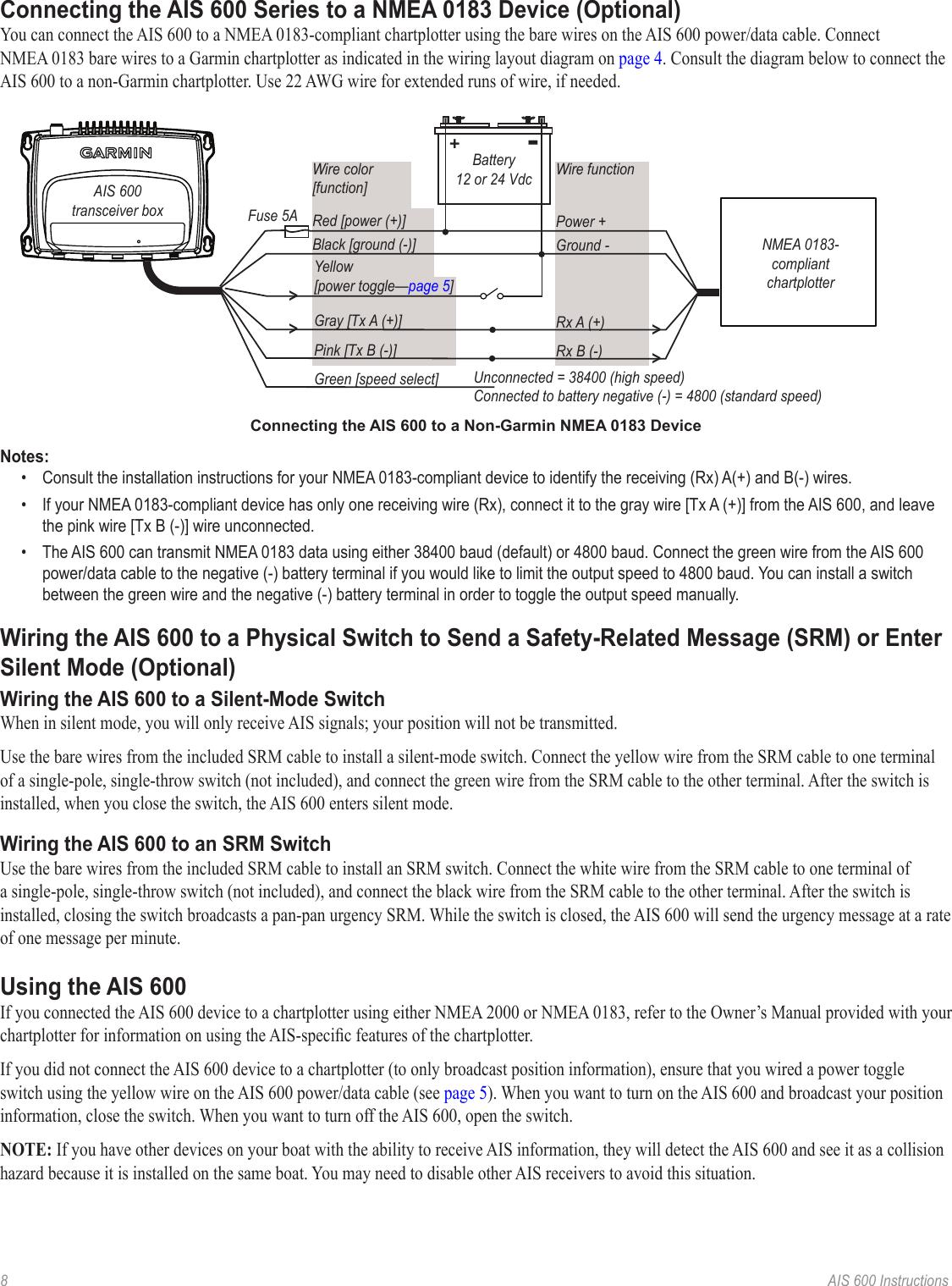 Garmin Ais 600 Blackbox Transceiver Instruction Manual