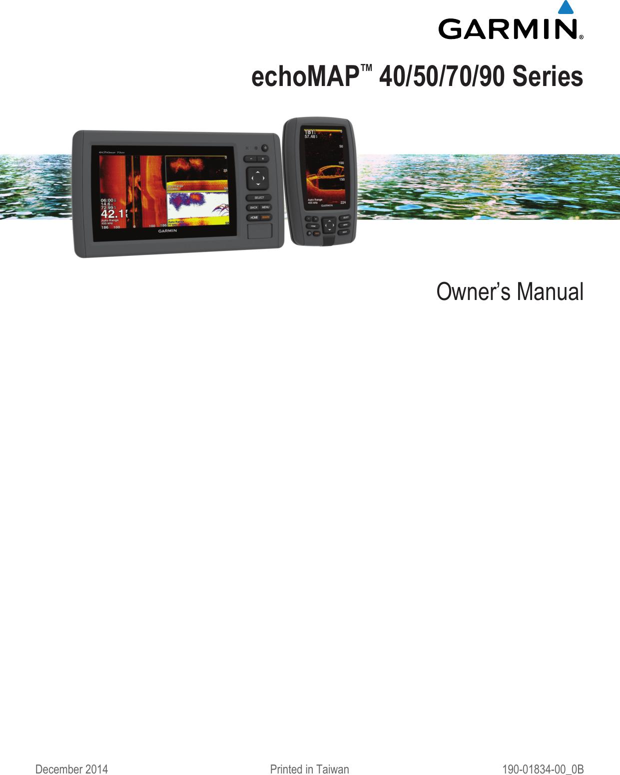 Garmin Echomap 42Dv Owners Manual