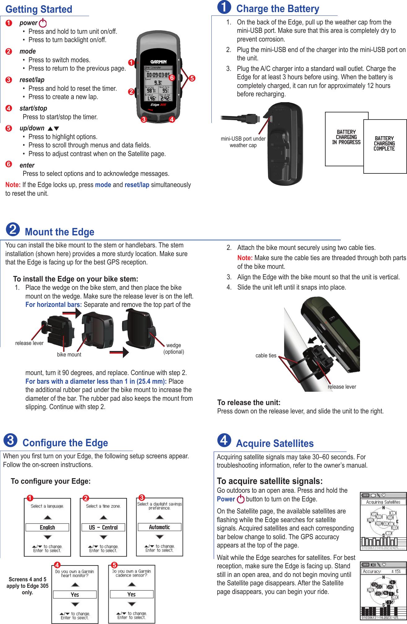 garmin edge 305 with cadence sensor quick start manual 190 00580 01 0d rh usermanual wiki Garmin 610 Garmin Forerunner 305