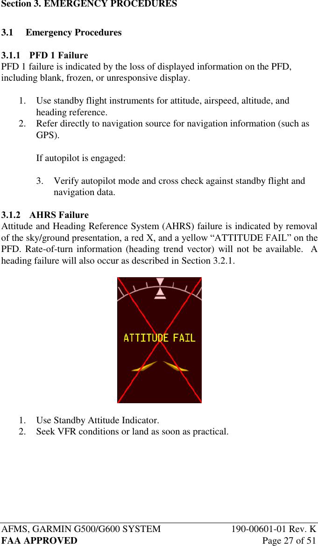 Garmin Part 23 Aml Stc Airplane Flight Manual Supplement G500/G600