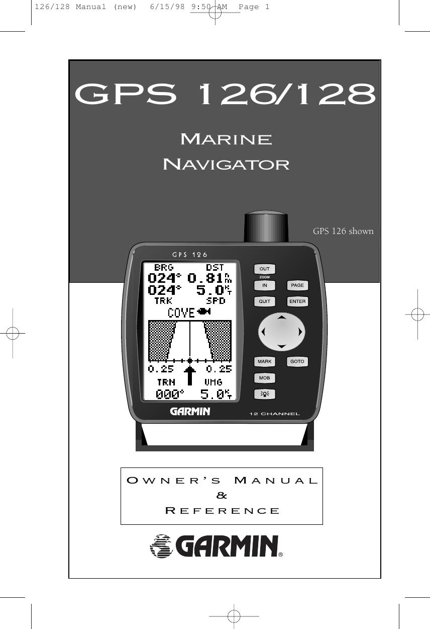 Garmin Gps 126 Users Manual 126/128 (new) on