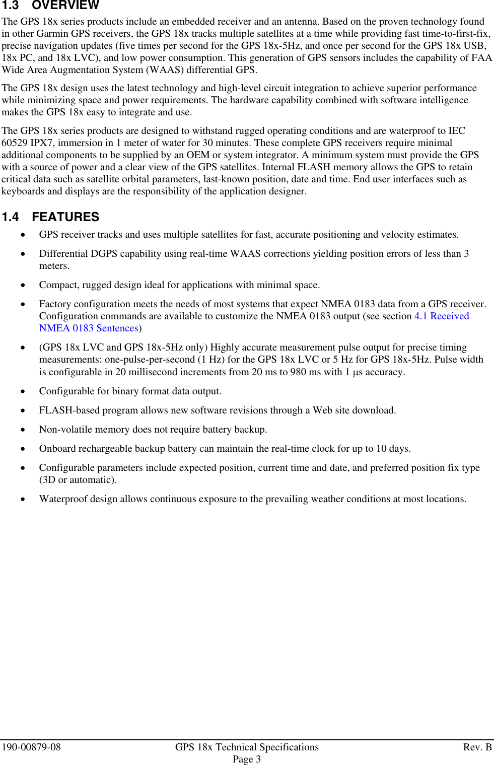 Garmin Gps 18X Users Manual