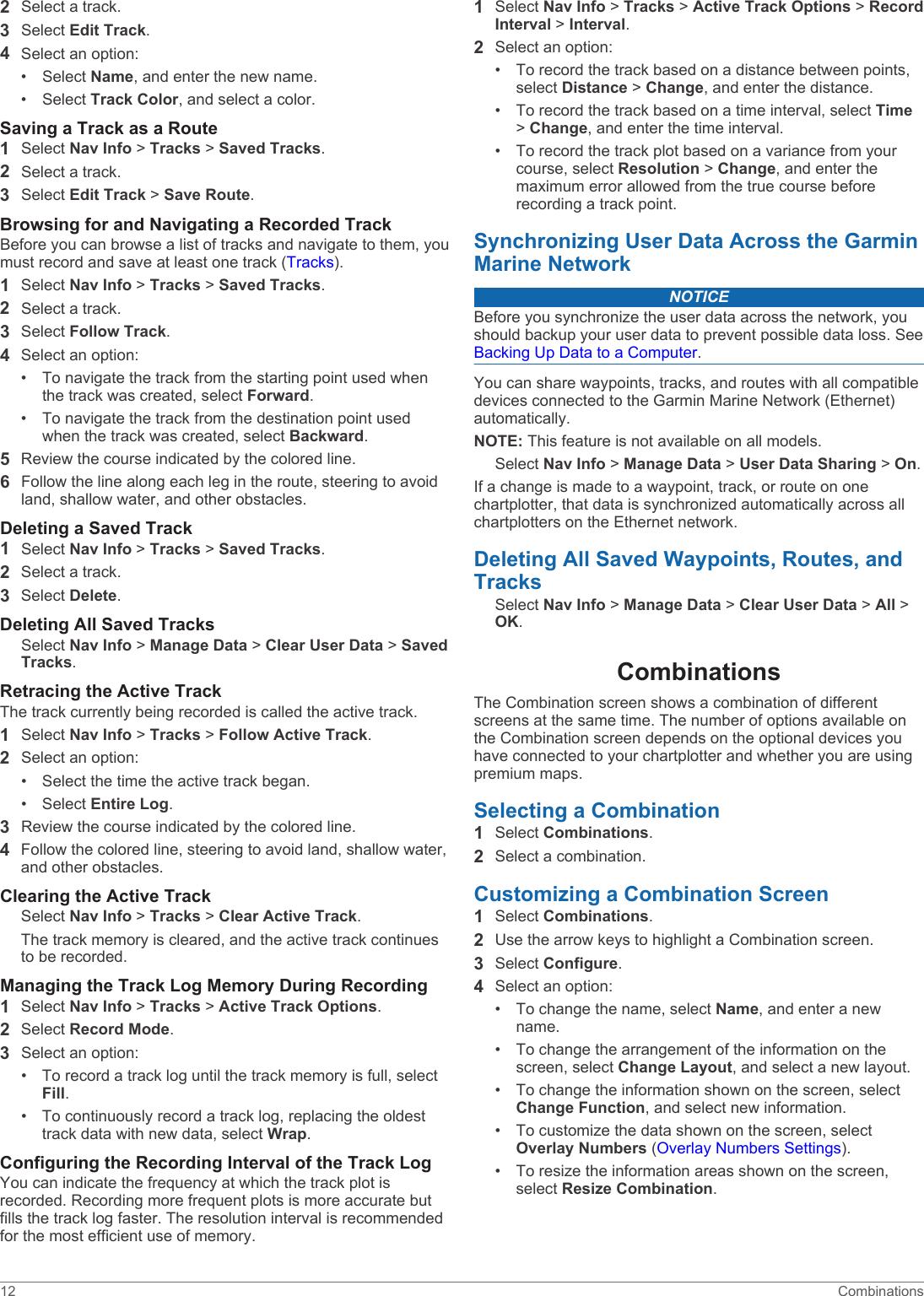 Garmin Gpsmap 1020Xs Owners Manual