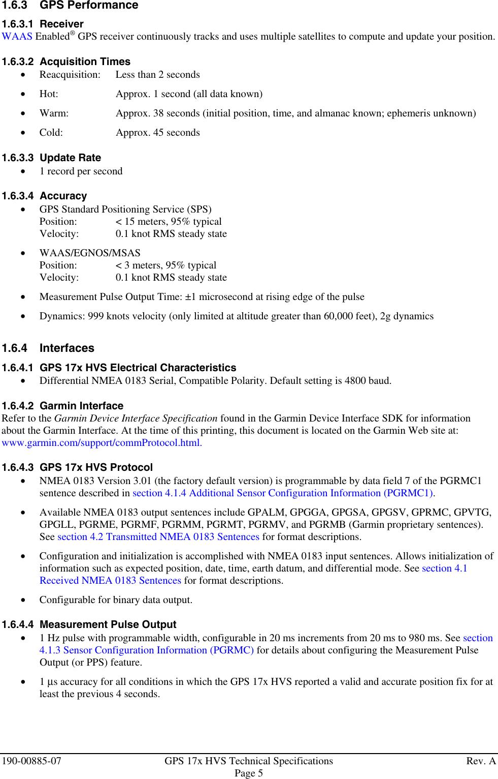 Garmin Hvs Gps17 Users Manual