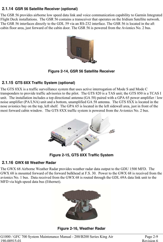 Garmin Mdl Rev 12 Sa01535Wi D System Maintenance Manual 190