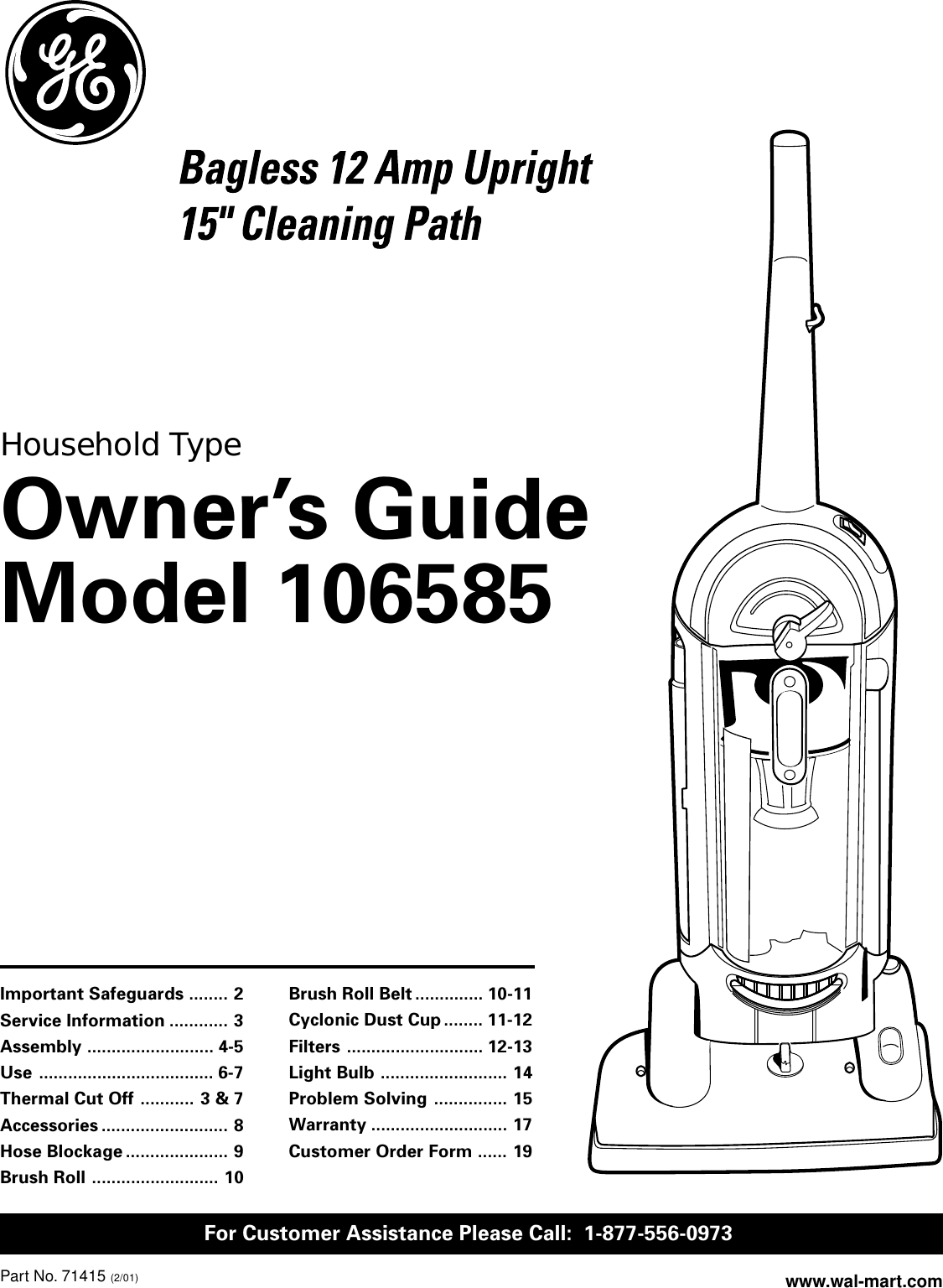 ge appliances 71415 users manual 71045  revised