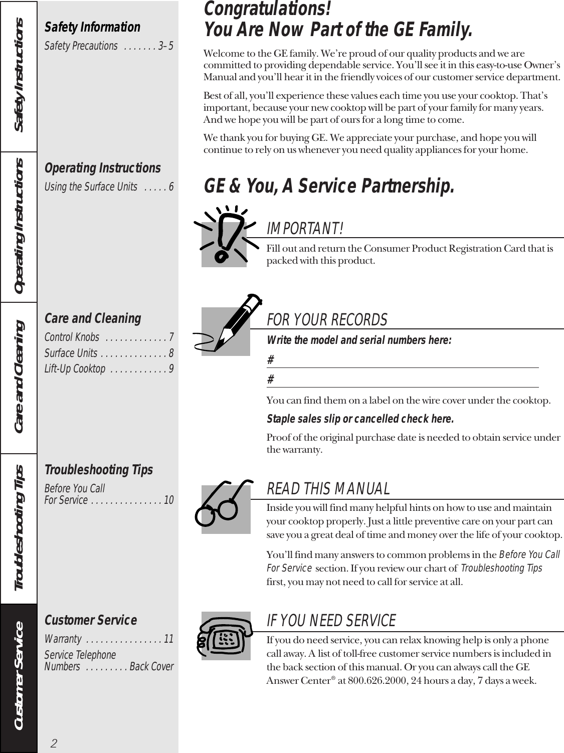 Ge Appliances General Electric Cooktop Jp326 Users Manual 49