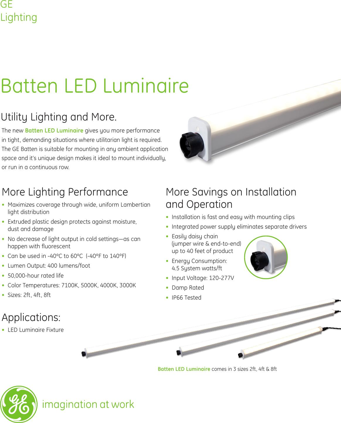 Ge Appliances Batten Led Specification Sheet Lighting Signage Wiring A Light Datasheet Sign128