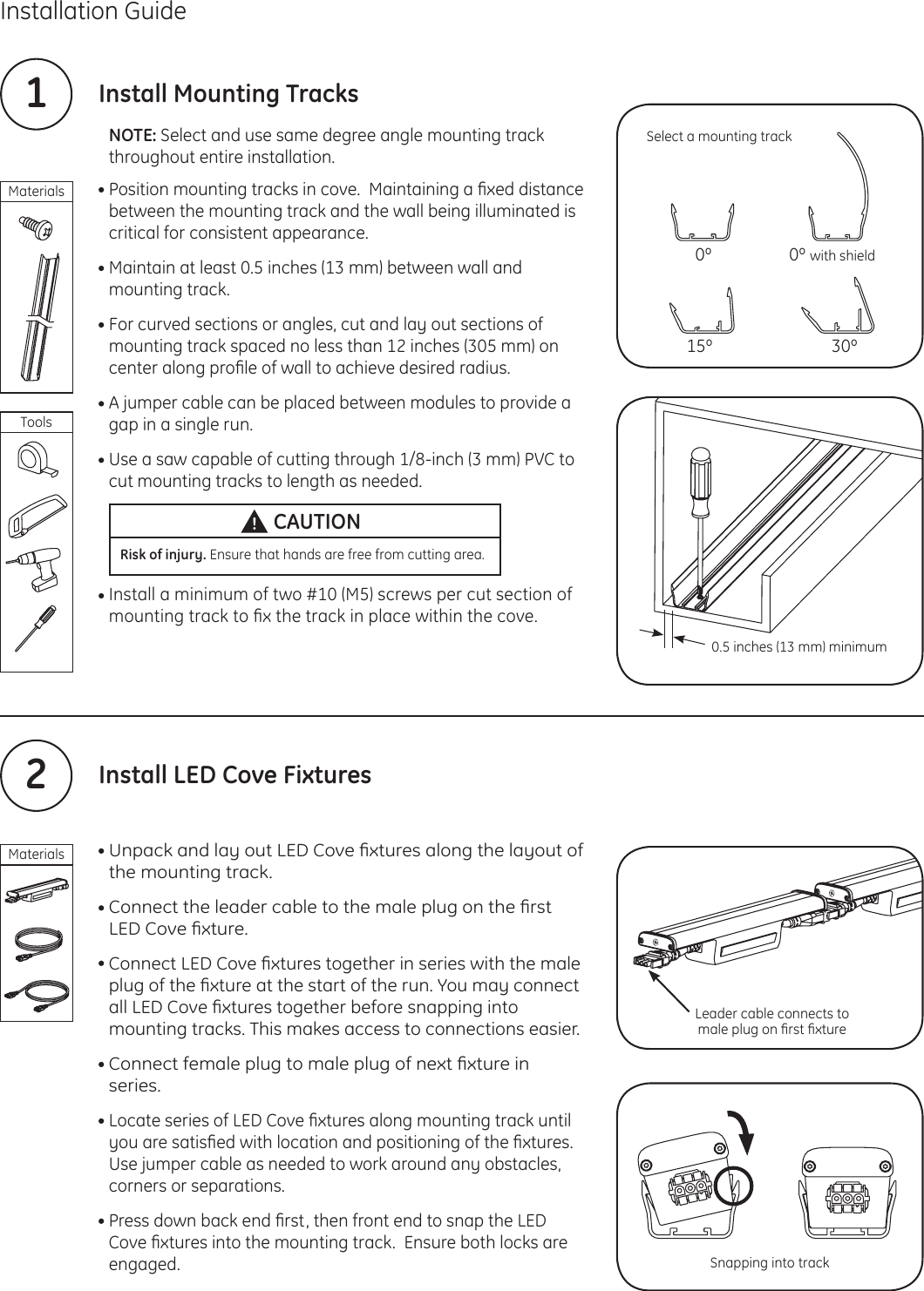 Ge Liances Led Cove Lighting Installation Guide Indoor