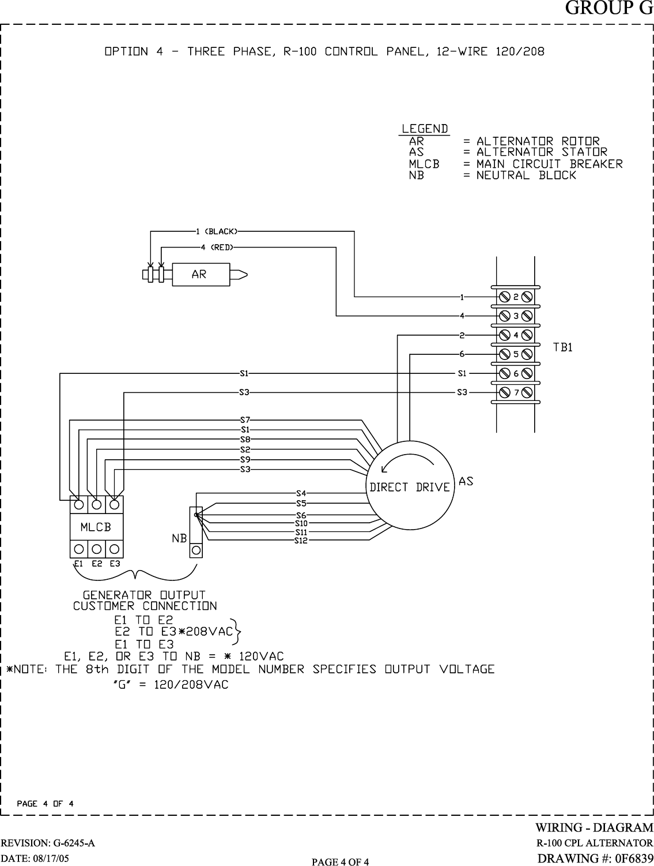 Standby Generator Stator Wiring Diagram Alternator Regulator Headlights Generac Power Systems 005221 0 Users Manual Cover026 Rev0 9 05 On