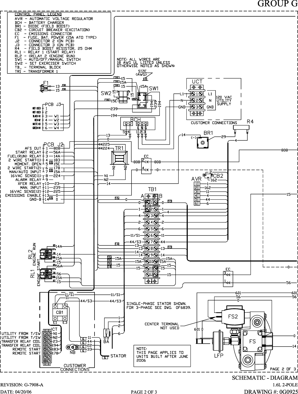 Generac Power Systems 005336 0 005337 Users Manual Cover079 Rev0 07 06 Washing Machine Circuit Diagram On Generator Standby Sets