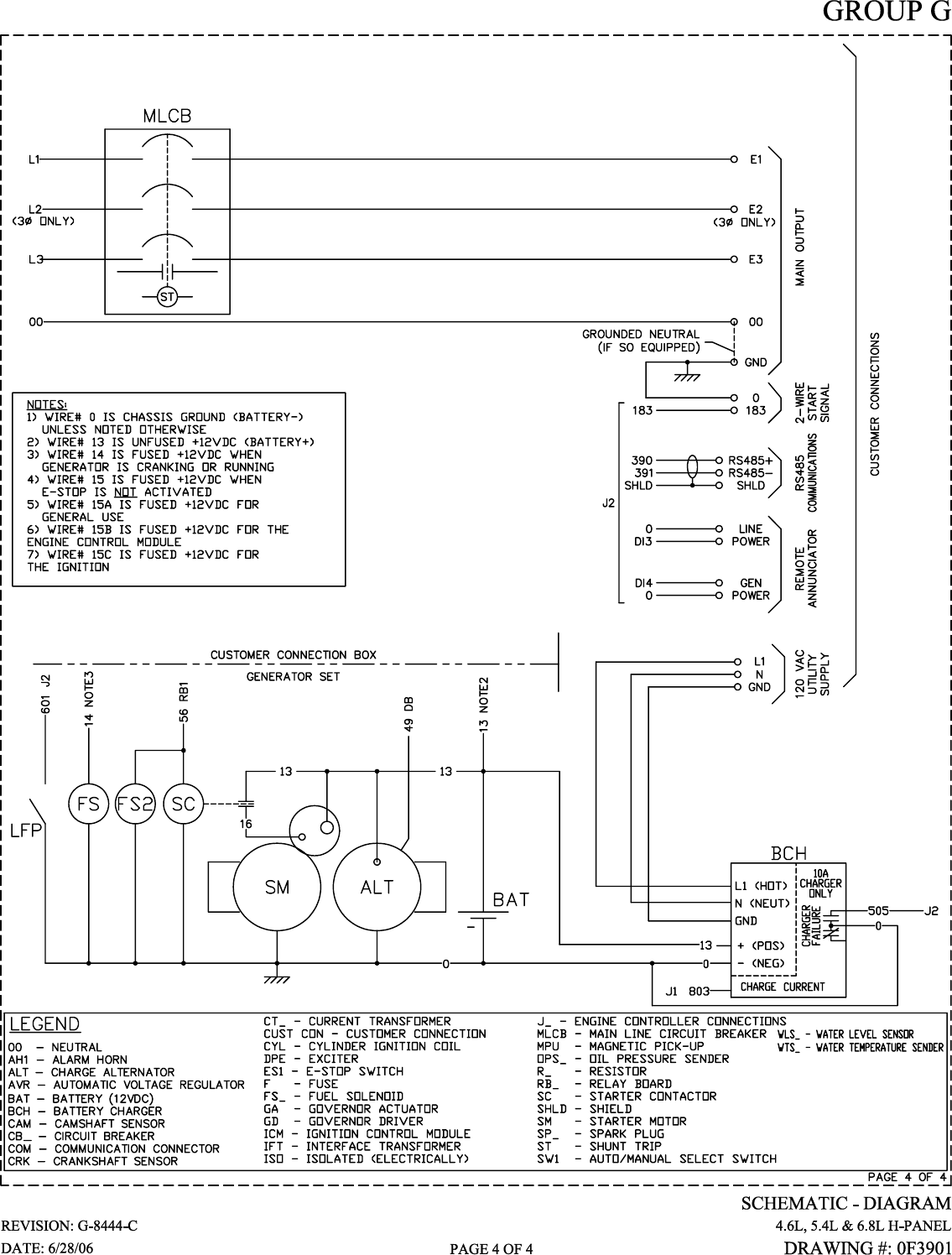 Generac Power Systems 6 8l Users Manual Cover010 Rev0 8 05 Wiring Harness Connectors Standby Generator Sets