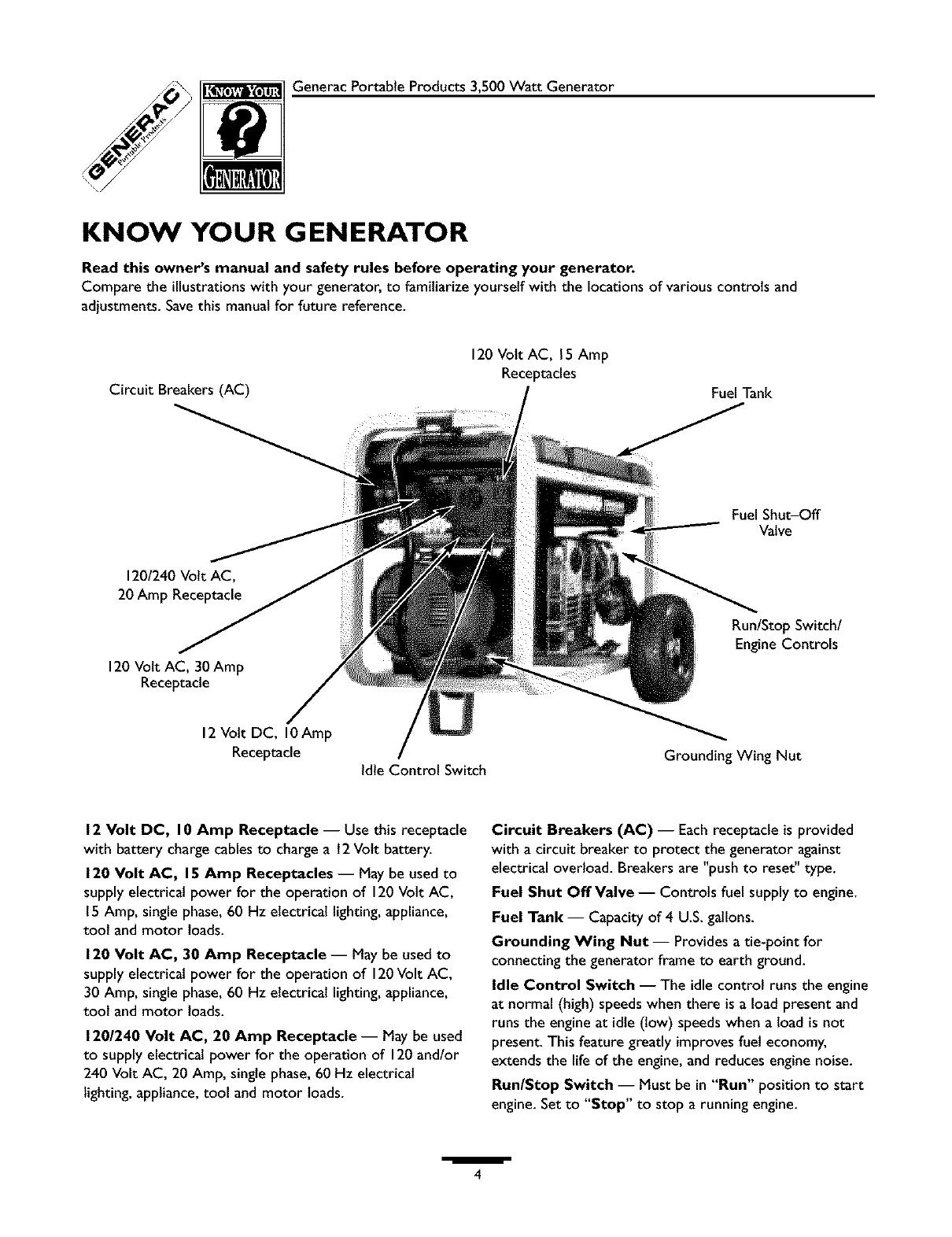 generac 30 amp generator plug wiring diagram generac 1313 1 user manual generator manuals and guides l0403230  generac 1313 1 user manual generator