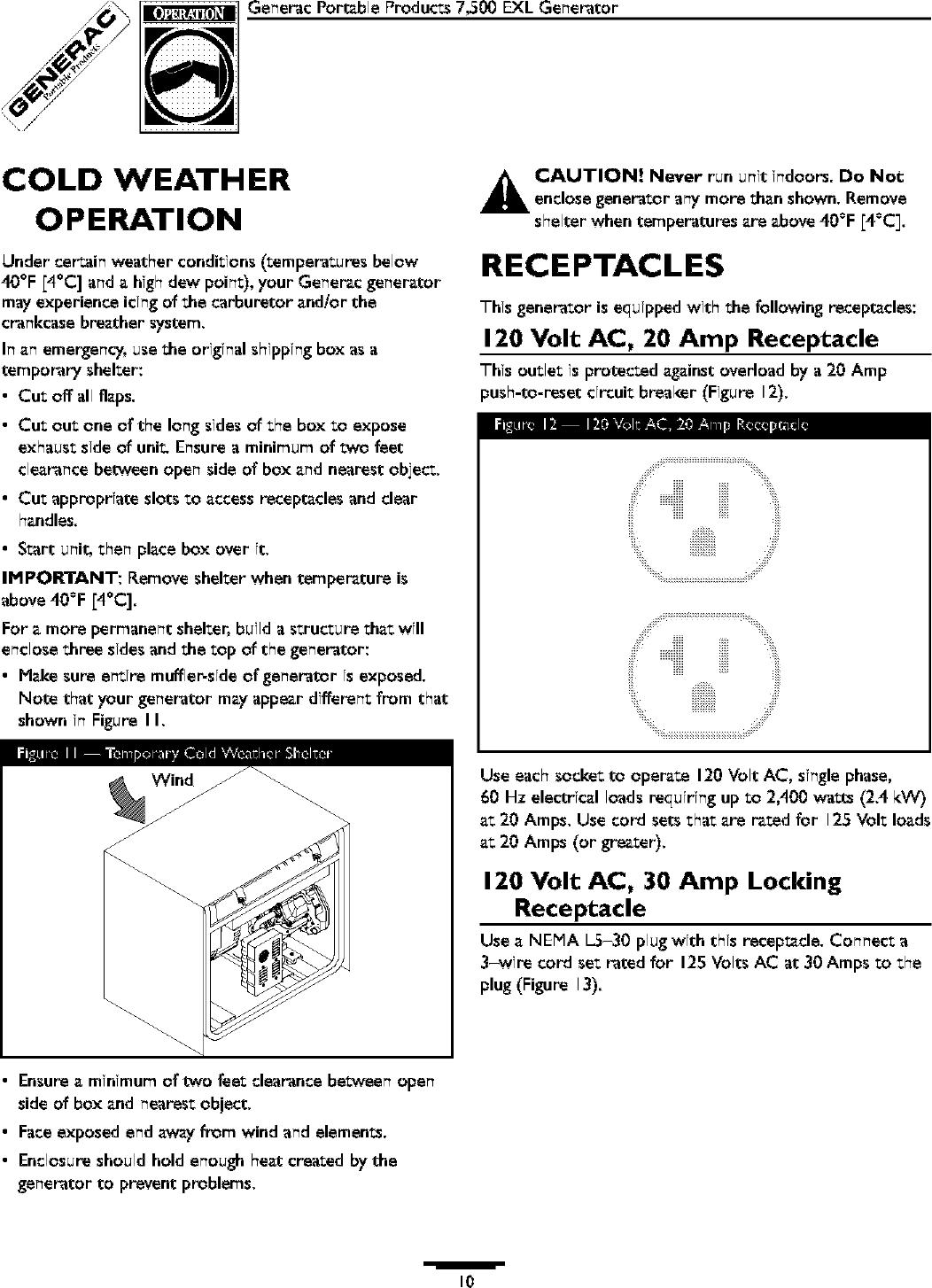 Generac 1315 0 User Manual GENERATOR Manuals And Guides L0403232