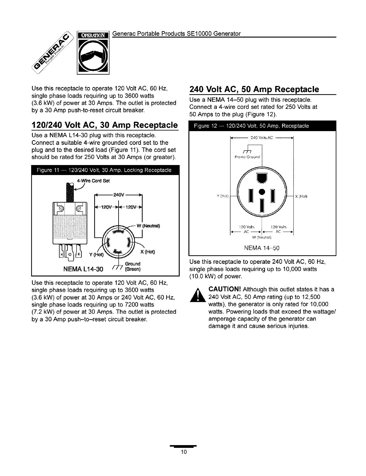 generac 30 amp generator plug wiring diagram generac 1339 0 user manual generator manuals and guides l0403234  1339 0 user manual generator manuals