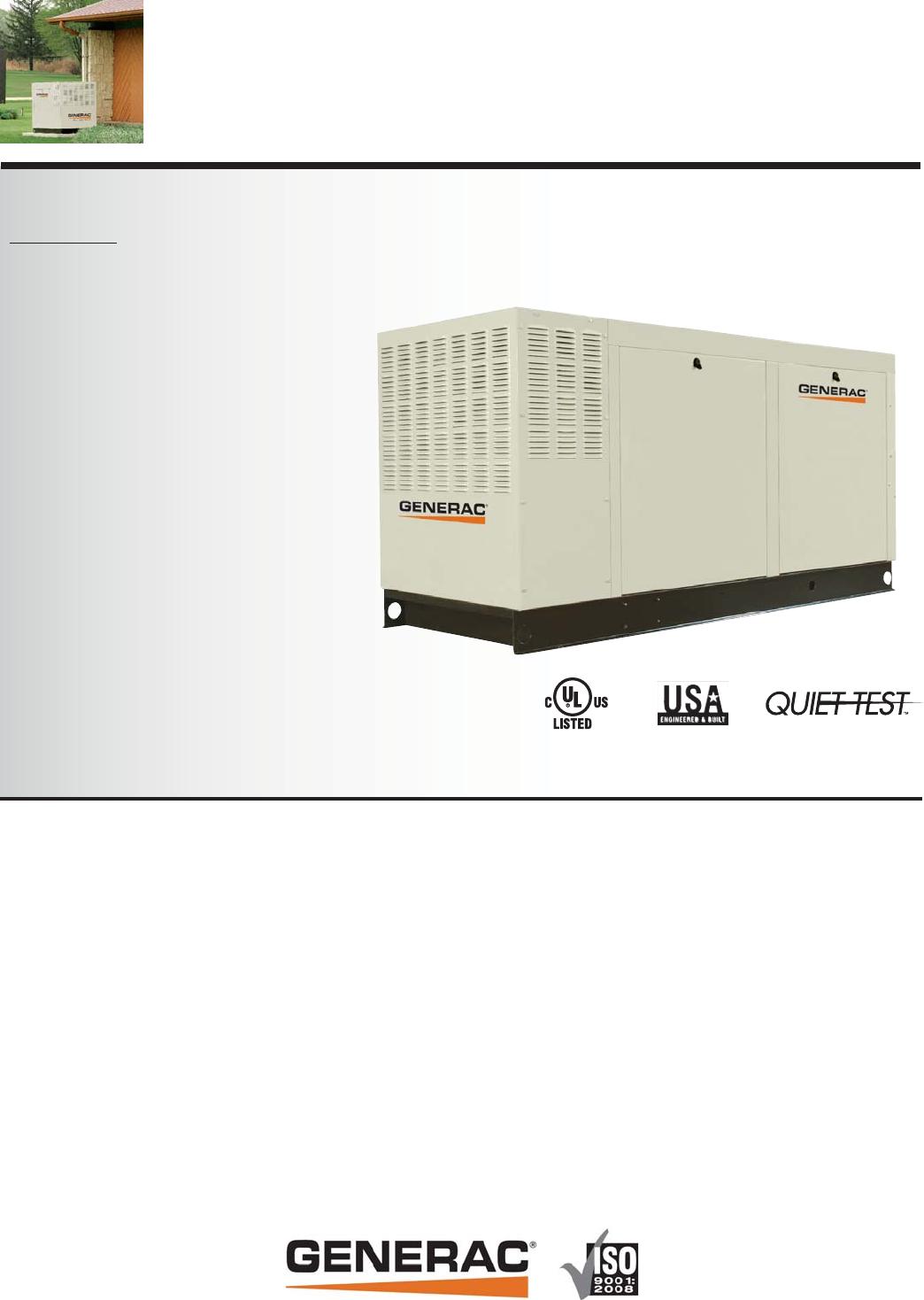 Generac Qt080 Users Manual 0188680SBY Rev F