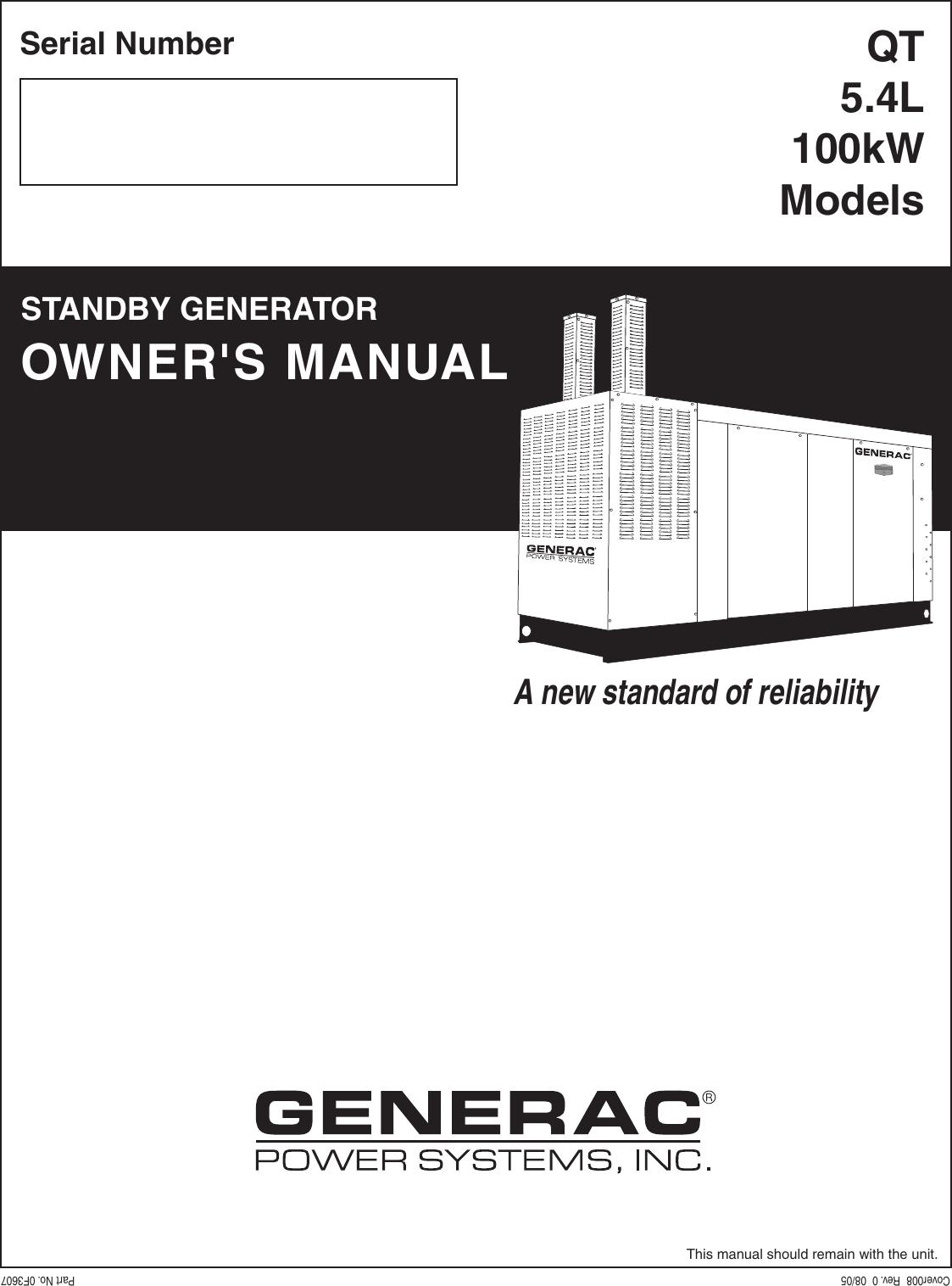 Generac Brushless Generator Wiring Diagram Diagrams Data Base Model 0059430 Source Qt 5 4l Owners Manual Cover008 Rev0 8 05 Rh Usermanual Wiki On Wheelhouse