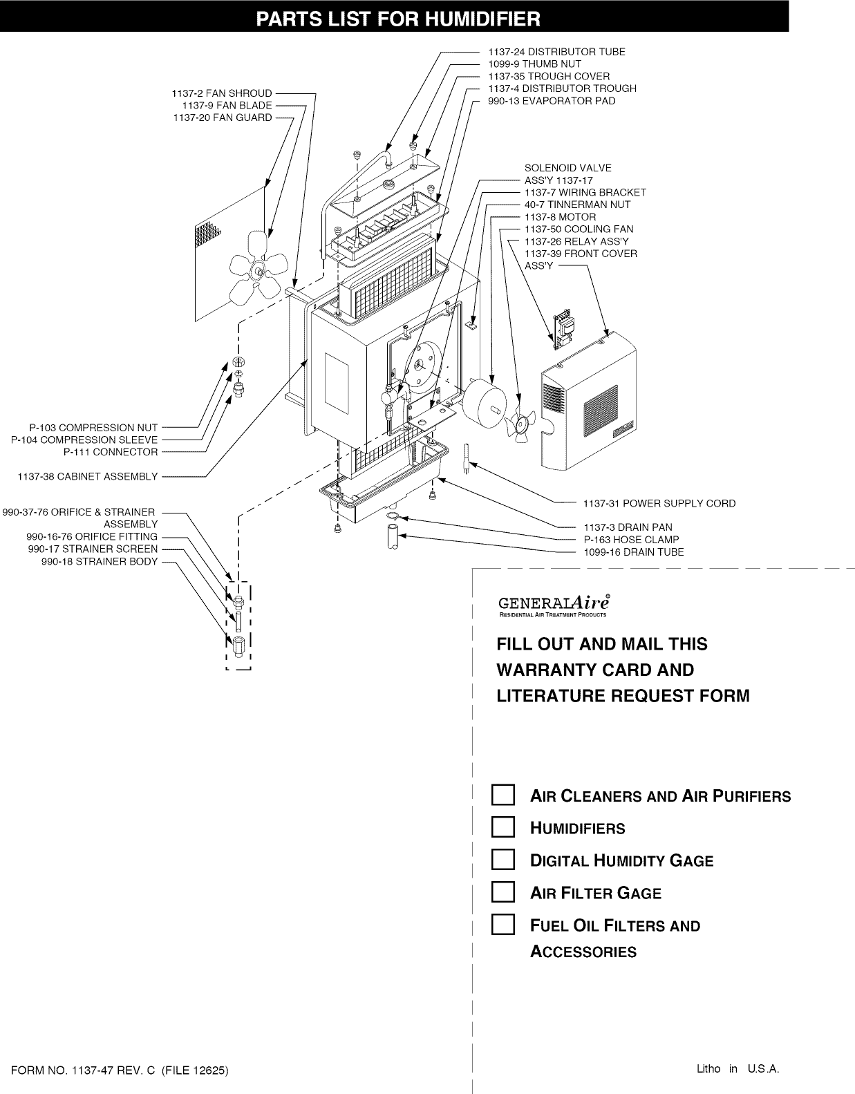 page 5 of 9 - generalaire 1137 user manual humidifier - manuals and guides  l1002554