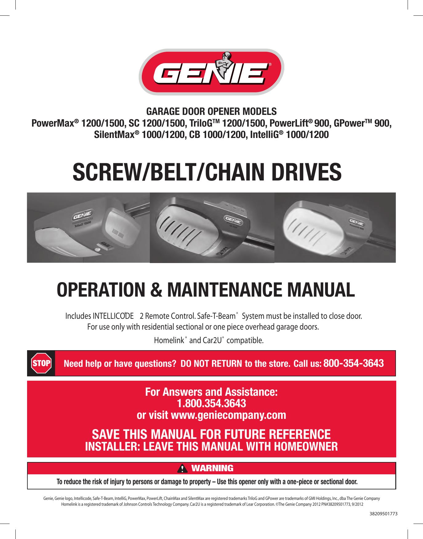 Genie Powermax 1200 Wiring Diagram Schematic Diagrams Pro Max Circuit Board 1500 Users Manual