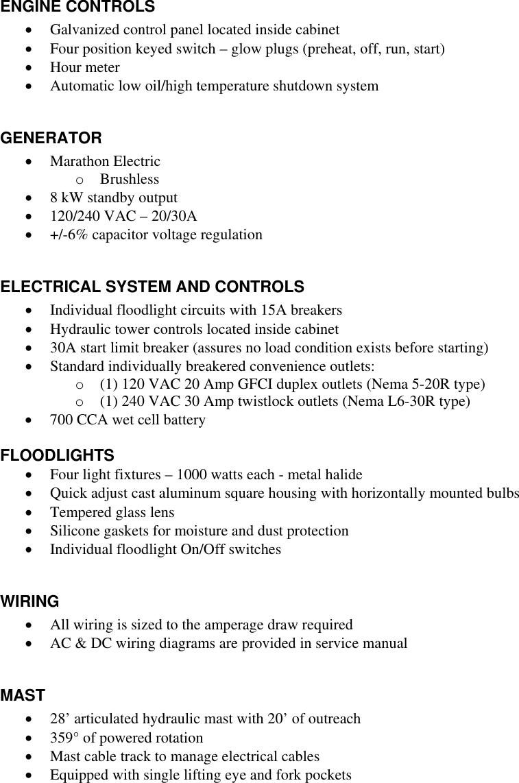 Genie Al5 Ht Bid Specifications Al5ht Spec Ucm03 034272 60745 Metal Halide Wiring Diagram For An Light Fixture Page 2 Of 4