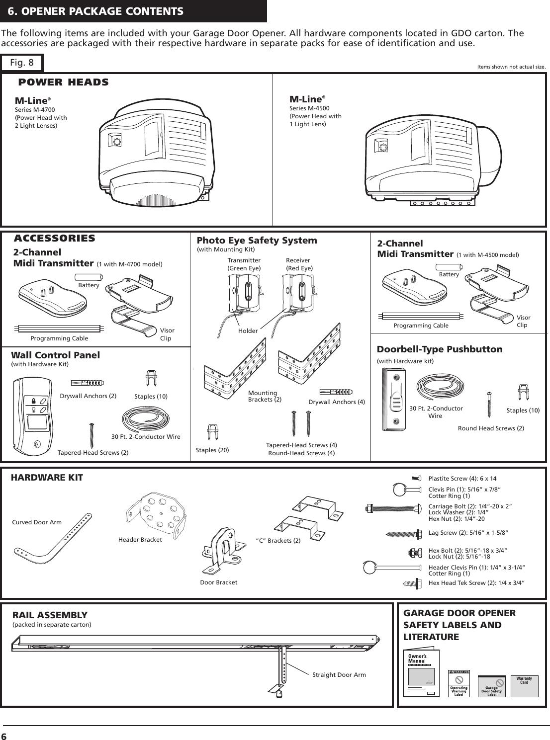 Genie Garage Door Opener M 4500 Users Manual ML 32, 1, 2, 31_2 on