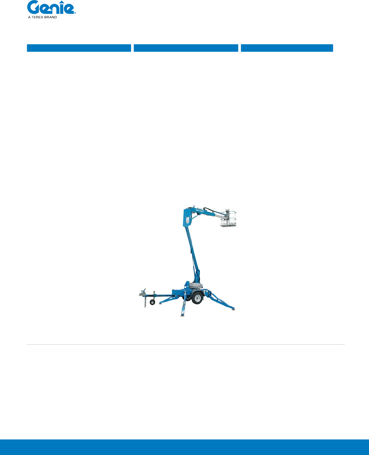 Genie Tz 34 20 Specifications Tz Booms Spec 1 22 14