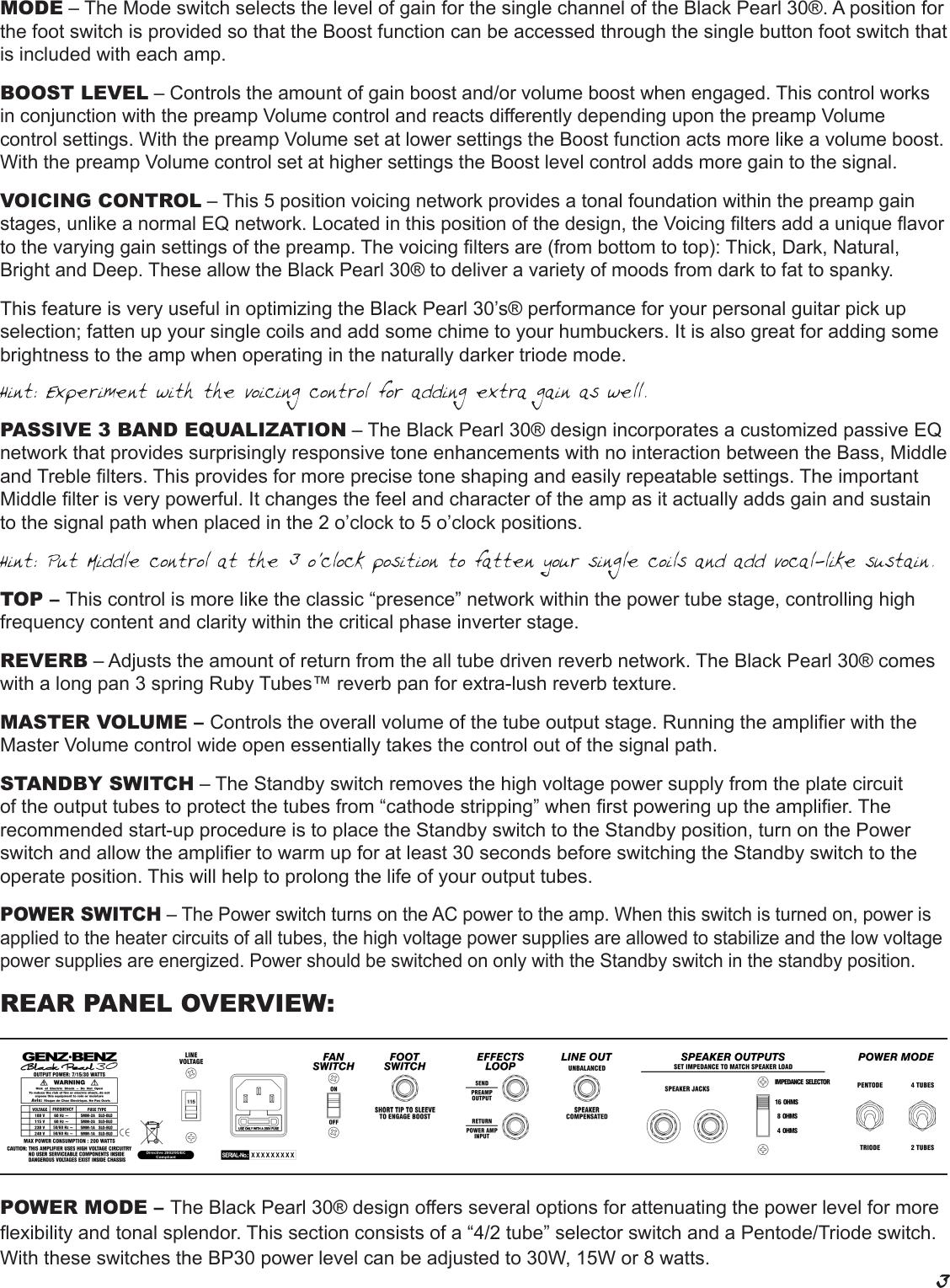Page 3 of 8 - Genz-Benz Genz-Benz-Black-Pearl-30-Bp30-Users-Manual-  Genz-benz-black-pearl-30-bp30-users-manual