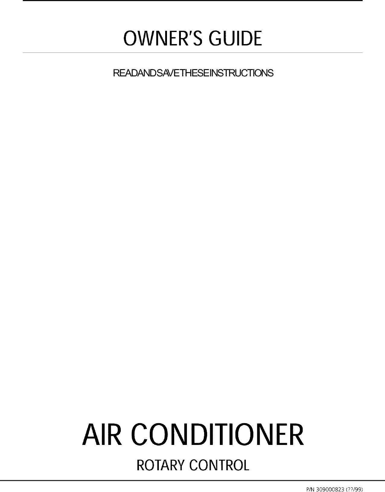 Gibson GAS154J1A1 User Manual AIR CONDITIONER Manuals And Guides L0111061