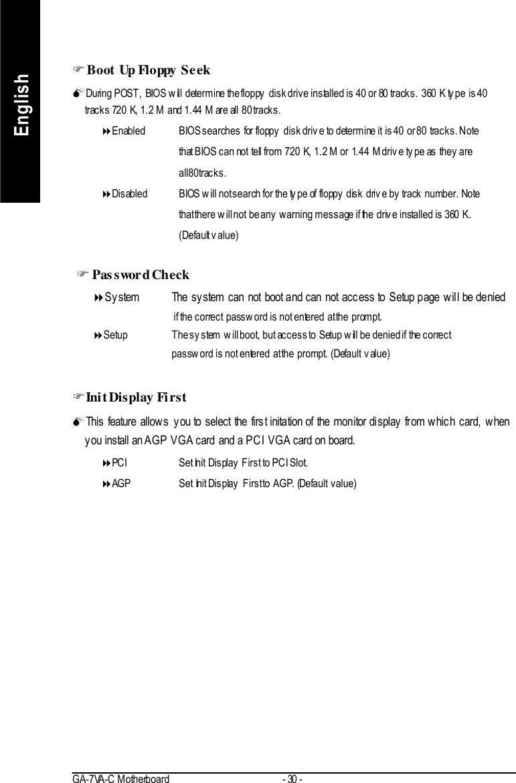 Gigabyte Ga 7Vac Users Manual E