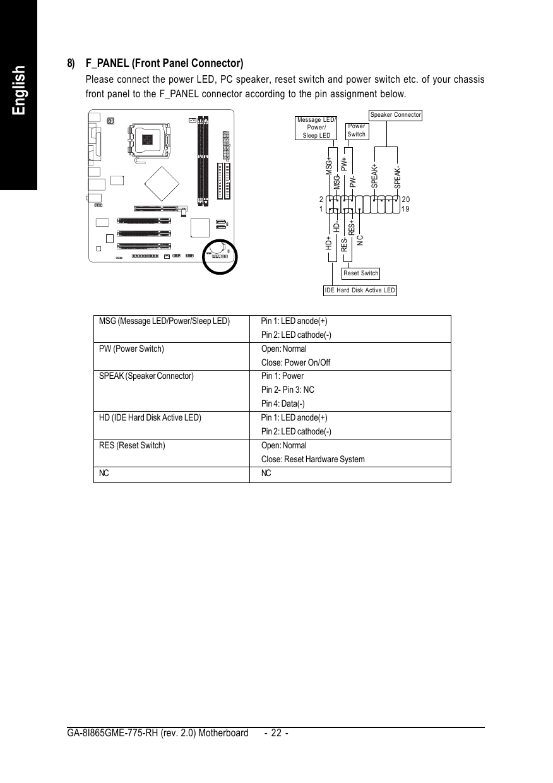GIGABYTE GA 8I865GME 775 RH WINDOWS 8 DRIVERS DOWNLOAD (2019)