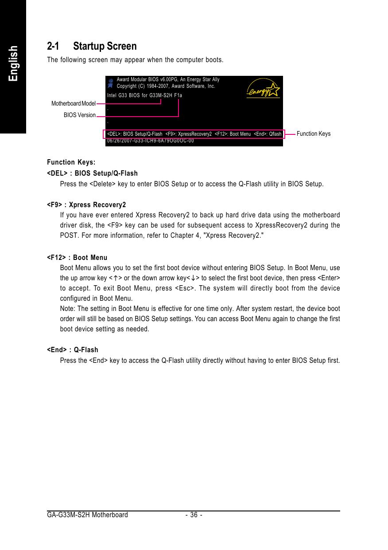 Gigabyte Ga G33M S2H Rev 1 X Owner S Manual