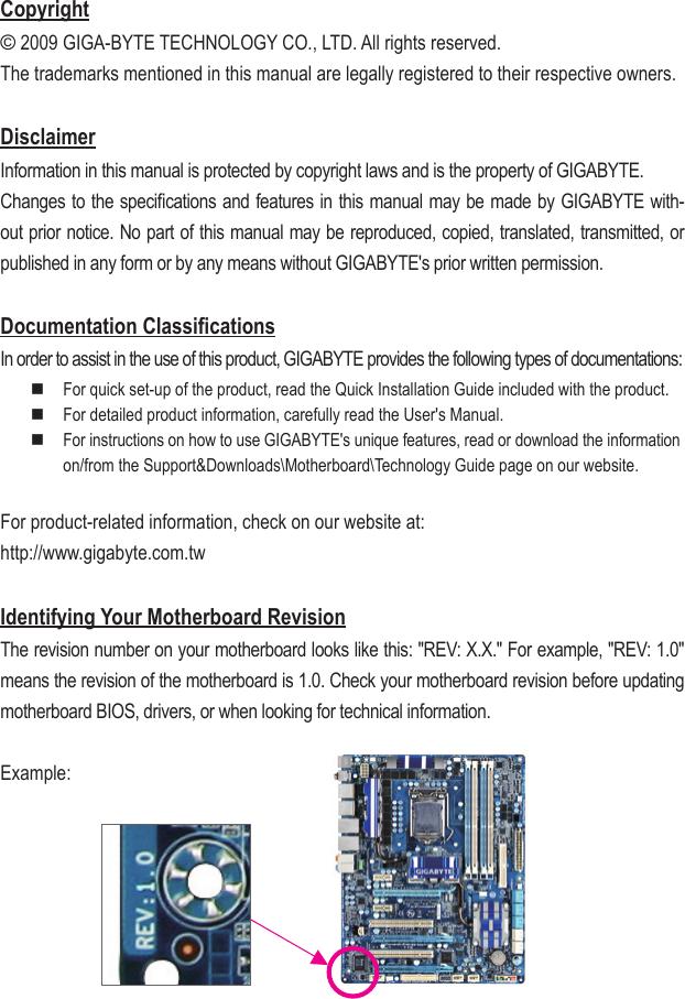 Gigabyte Ga H55M S2H Rev 1 0 Owner S Manual