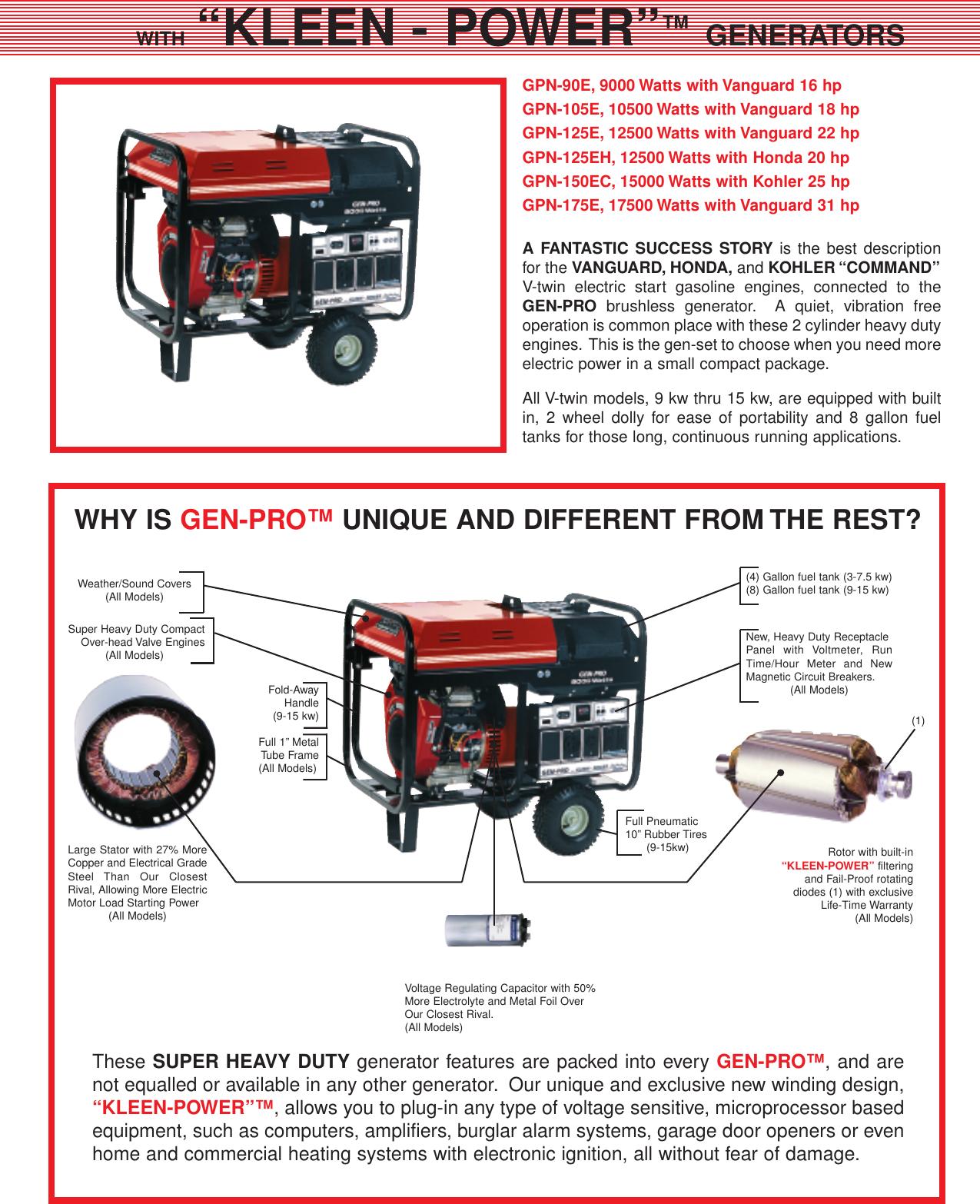 Gillette Portable Generators Users Manual Gen Pro 2UserManual.wiki