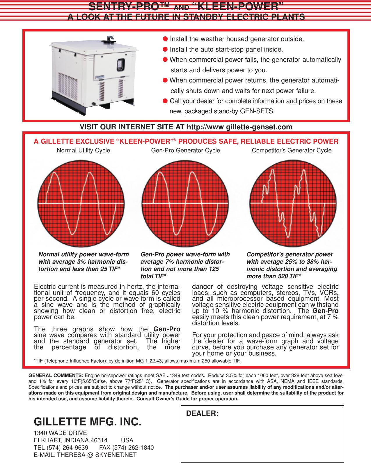 gen-pro generator manual