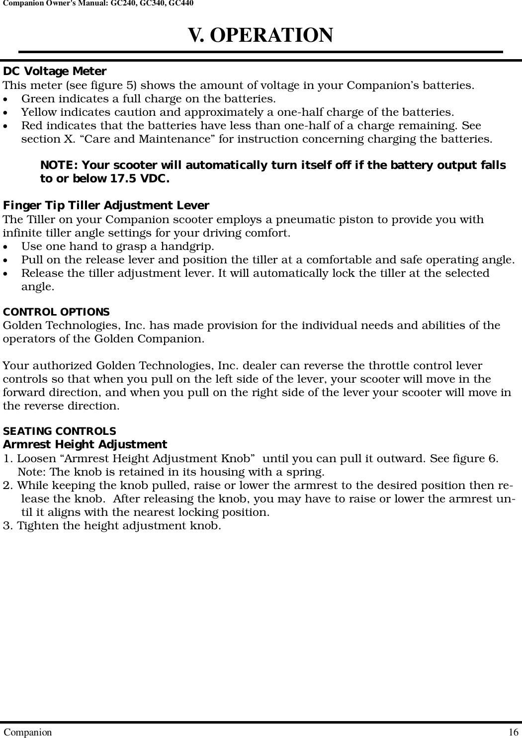 Gc440 Scooter Manual