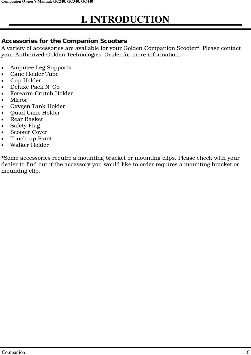 Golden Technologies Gc240 Users Manual CompanionOwnersManual