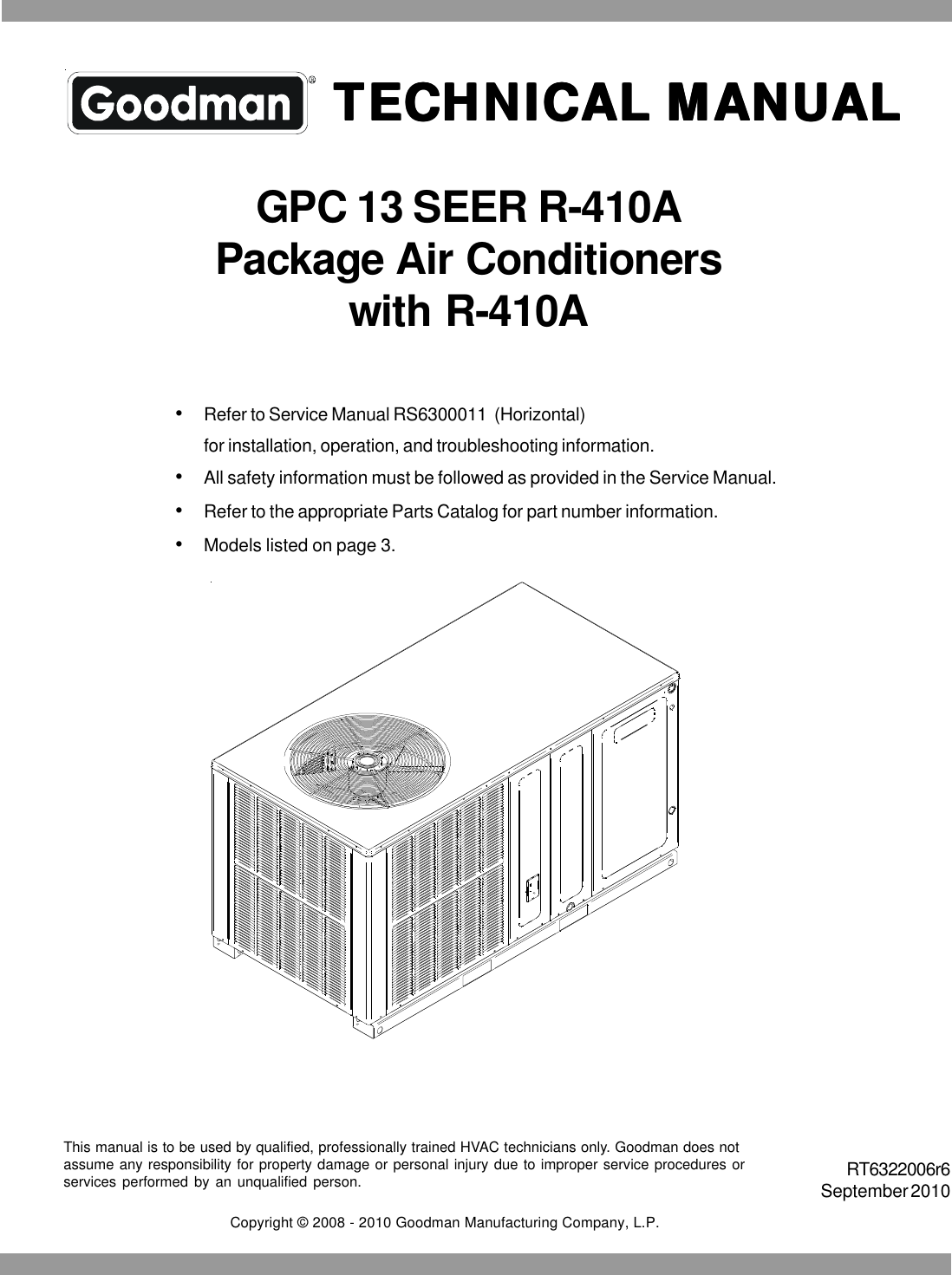 Goodmans Air Conditioner Gpc 13 Seer R 410a Users Manual Wiring Schematic For A 413157 12 Volt Relay