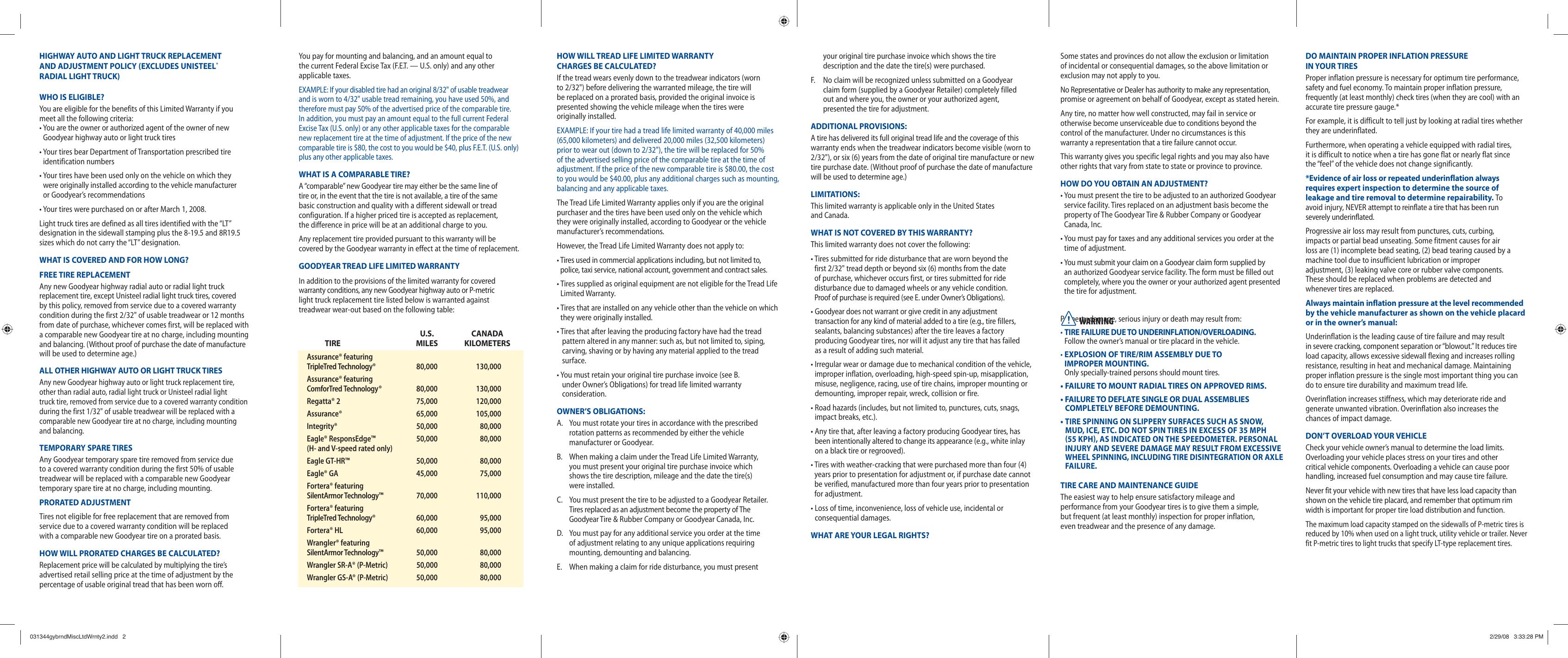 goodyear sp 05 31344 308 users manual 031344gybrndmiscltdwrnty2 rh usermanual wiki Manuals in PDF Instruction Manual